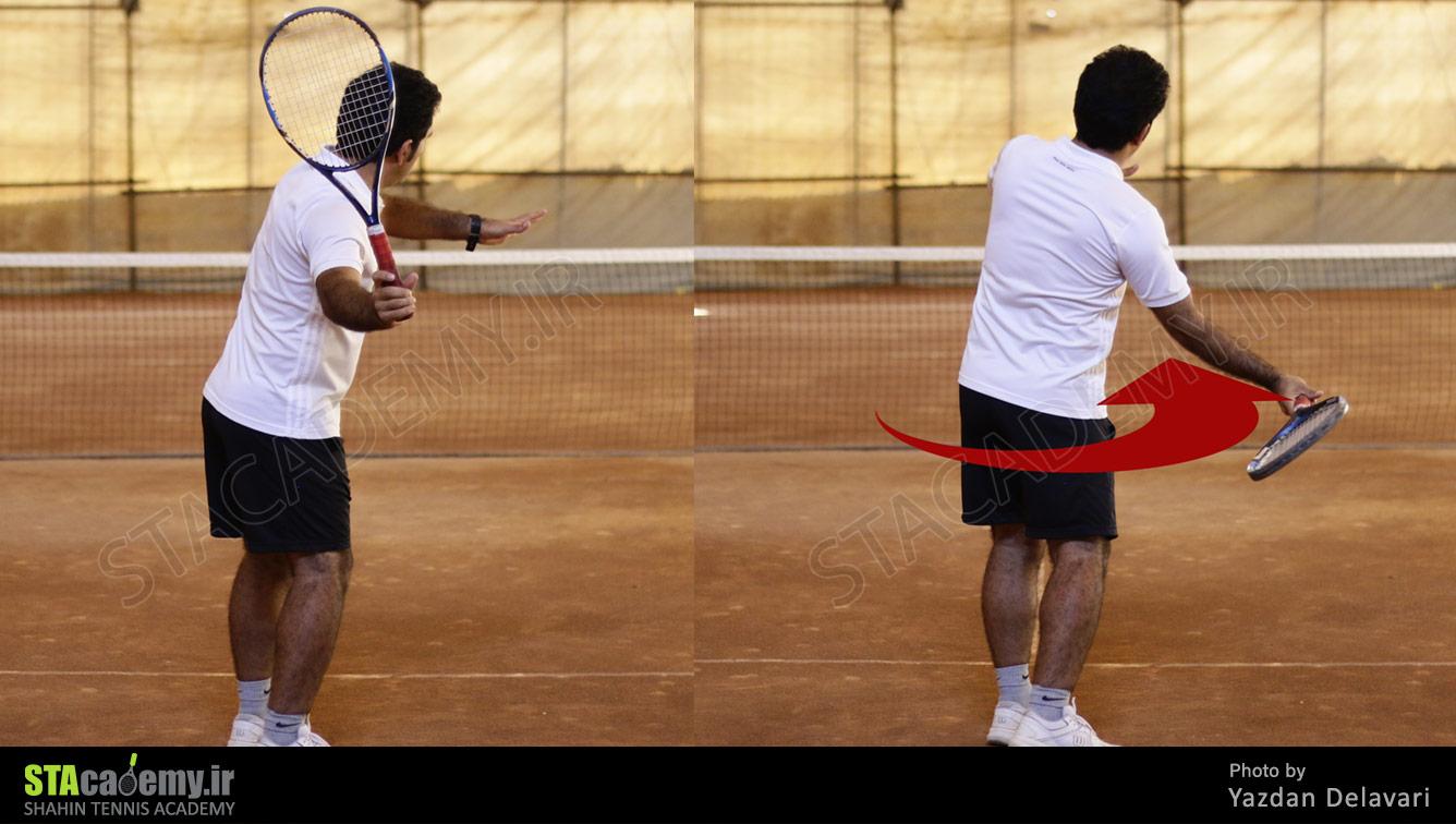 آموزش فورهند تنیس