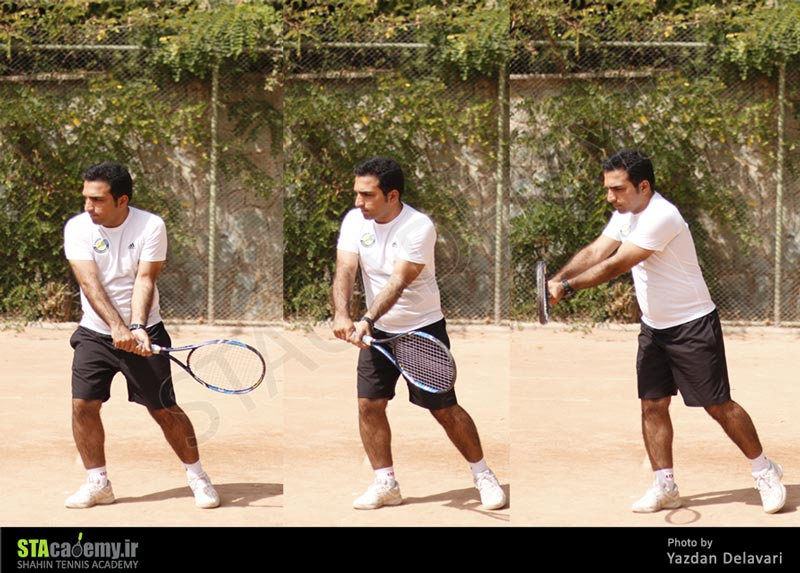آموزش بکهند دو دستی تنیس