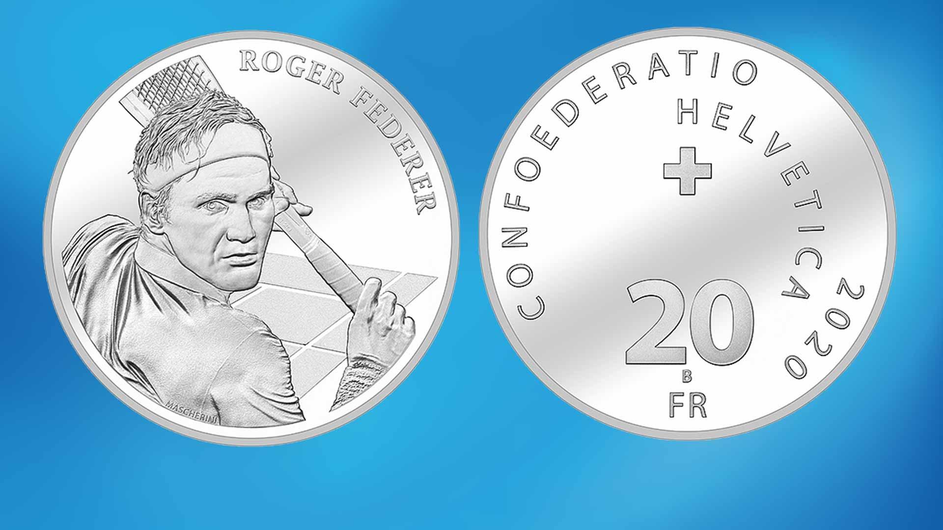 ضرب سکه نقره فام به افتخار راجر فدرر